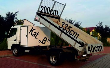 Mitsubishi Canter 3.0 wywrotka, kiper, hak 3,5 tony